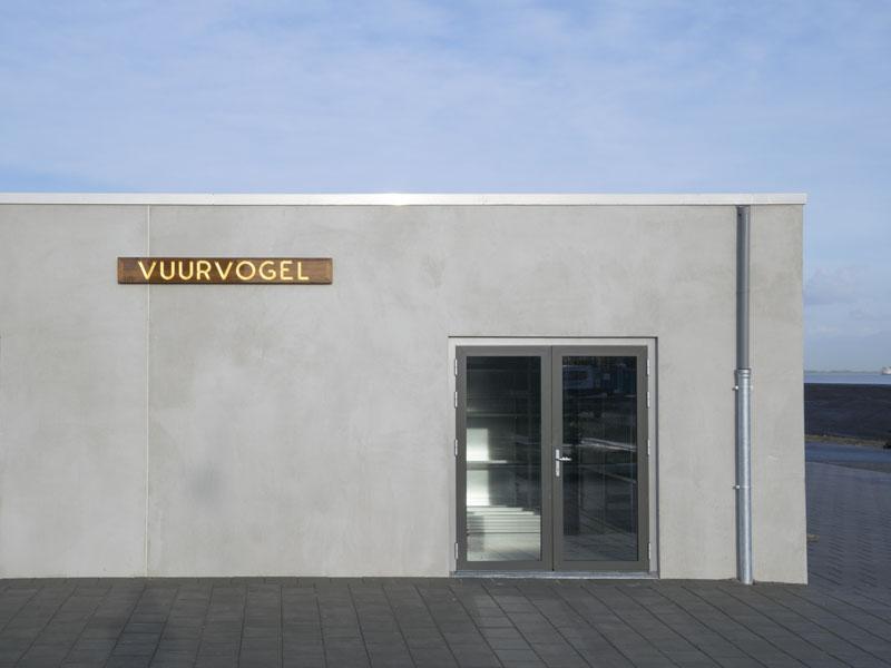 Gevel aanzicht verbouw en renovatie van gebouw Vuurvogel
