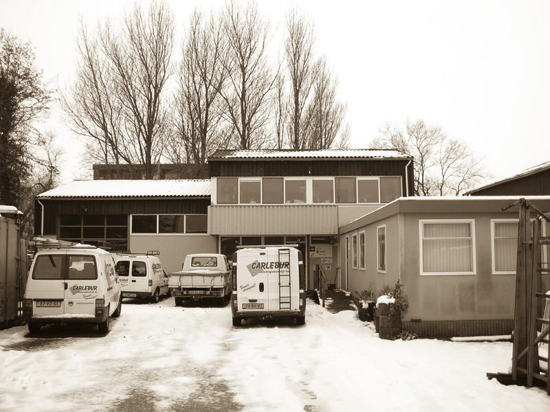 Oude werkplaats van Carlebur aan de Ambachtsweg 18 te Den Helder
