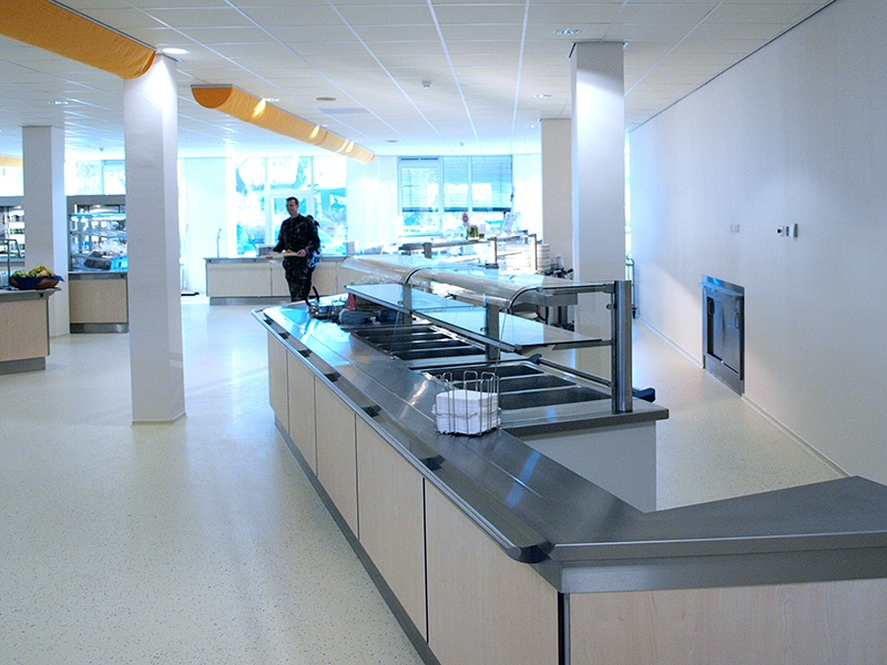 Verbouwing van het bedrijfsrestaurant en grootkeuken in het Enyshouse