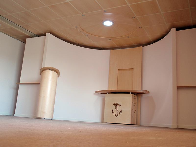 Gebedsruimte voor renovatie en verbouw gebouw Flevo