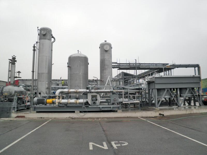 Bouw van de fundering voor een gaszuiveringsinstallatie bij HVC in Middenmeer