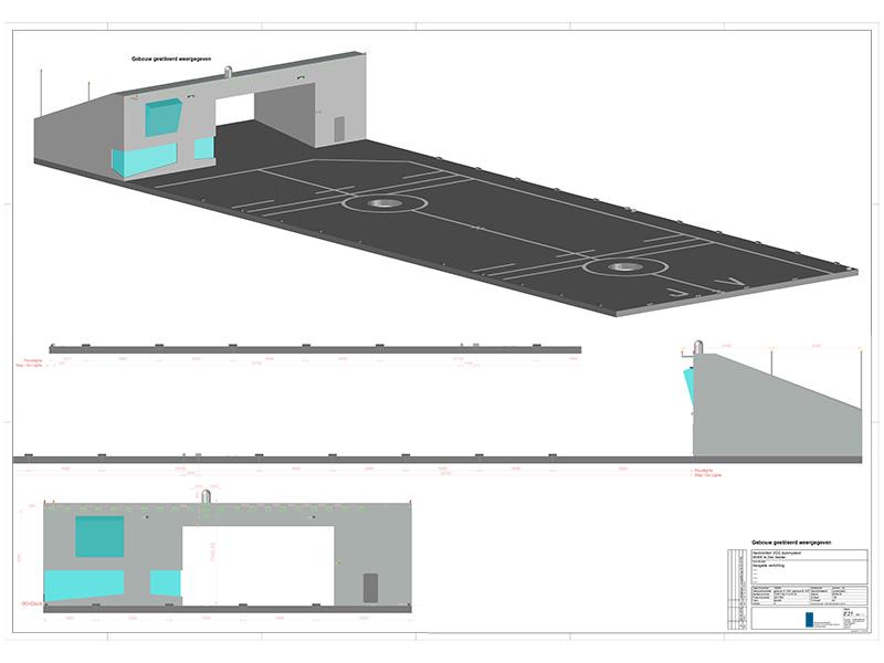 MVK De Kooy Den Helder 3D tekening van gebouw Dummydeck