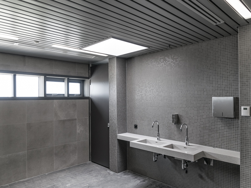 Sanitaire ruimte in nieuwbouw NBCD Trainingscentrum