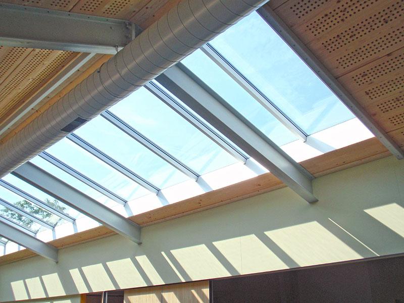 Daklicht nieuwbouw en verbouw van sportfaciliteit Clubgebouw in Bergen
