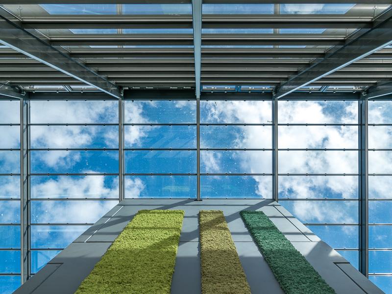 Het atrium en trappenhuis in nieuwbouw NBCD Trainingscentrum